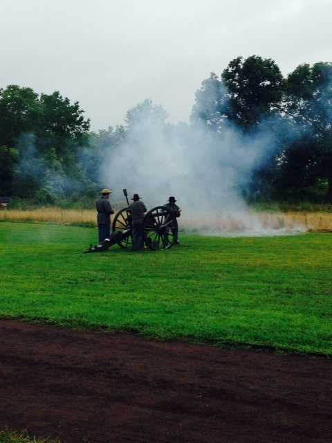The sound of cannon blasts marked the beginning of the event.