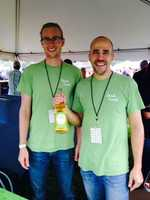 Adam Redding and Alex Hamm of Good Intent Cider. Their cider can be found around Gettysburg and State College.