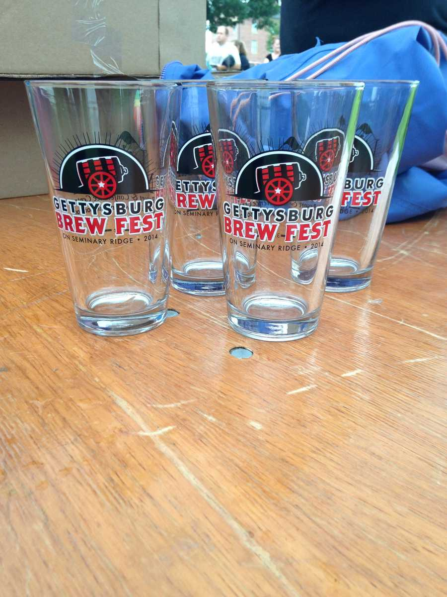 Pictured: Event pint glasses