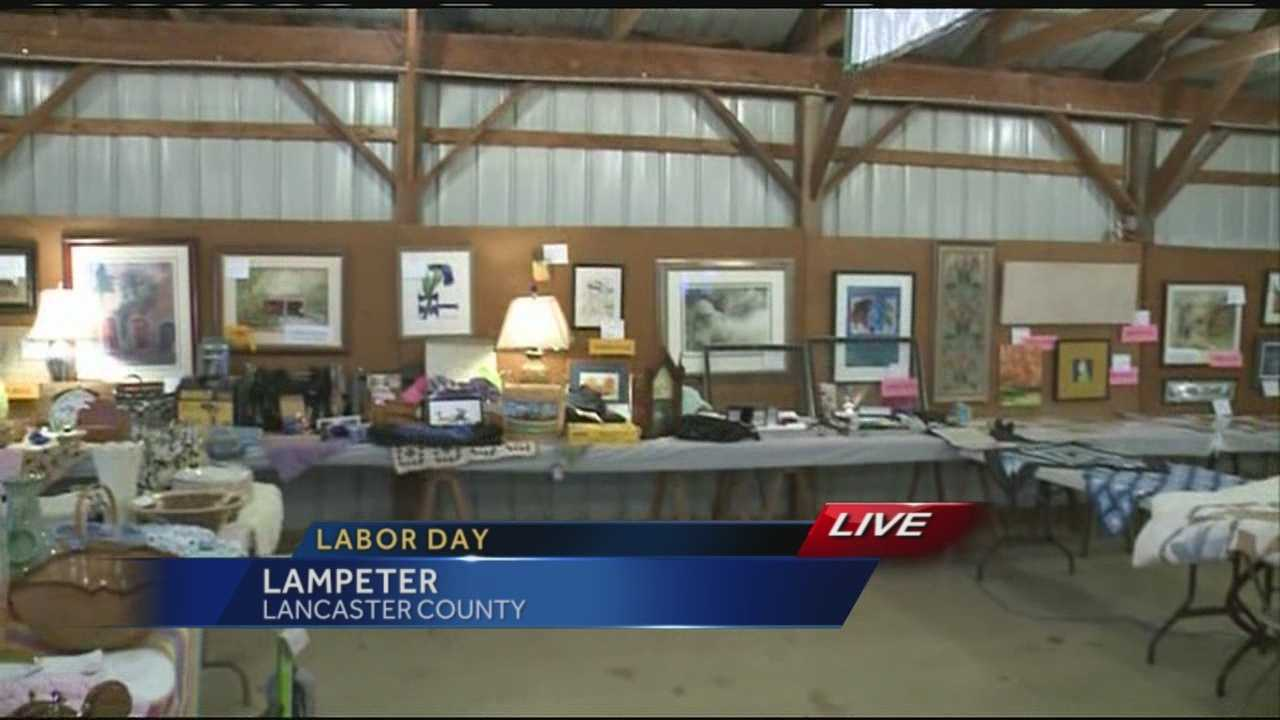 News 8 Today 9.1.14 HOSPICE AUCTION LABOR DAY