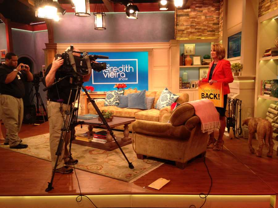 """News 8's Lori Burkholder stopped by """"The Meredith Vieira Show"""" studios in NYC to talk to Meredith about her new show."""