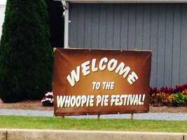 """The annual Whoopie Pie Festival was held at the Hershey Farm Restaurant & Inn on Saturday. Click through to see some of the 100 whoopie pie flavors that were served up - and catch a glimpse of this year's """"largest whoopie pie"""" creation."""