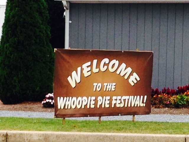"The annual Whoopie Pie Festival was held at the Hershey Farm Restaurant & Inn on Saturday. Click through to see some of the 100 whoopie pie flavors that were served up - and catch a glimpse of this year's ""largest whoopie pie"" creation."