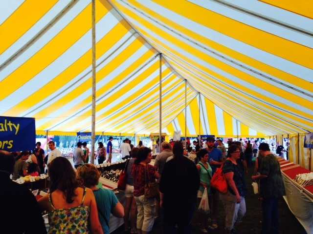 A large tent was filled with whoopie pies.