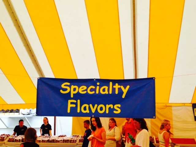 From red velvet to chocolate pineapple there were many specialty flavors offered.