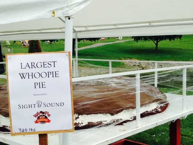 "The ""Largest Whoopie Pie"" at the festival had its own tent."
