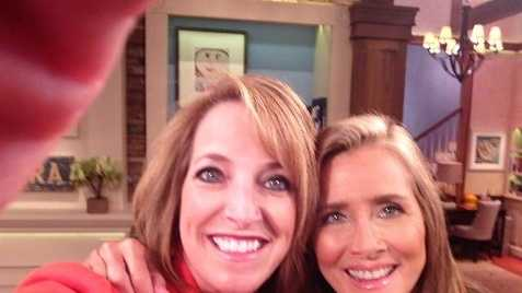 News 8's Lori Burkholder took a moment for a selfie with Meredith Vieira on the set of her new show in NYC.