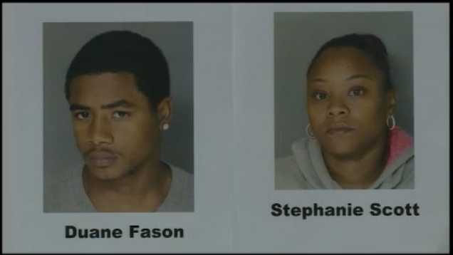 Police say Stephanie Scott and her son Duane Fason, Jr., killed Joseph Mahoney.