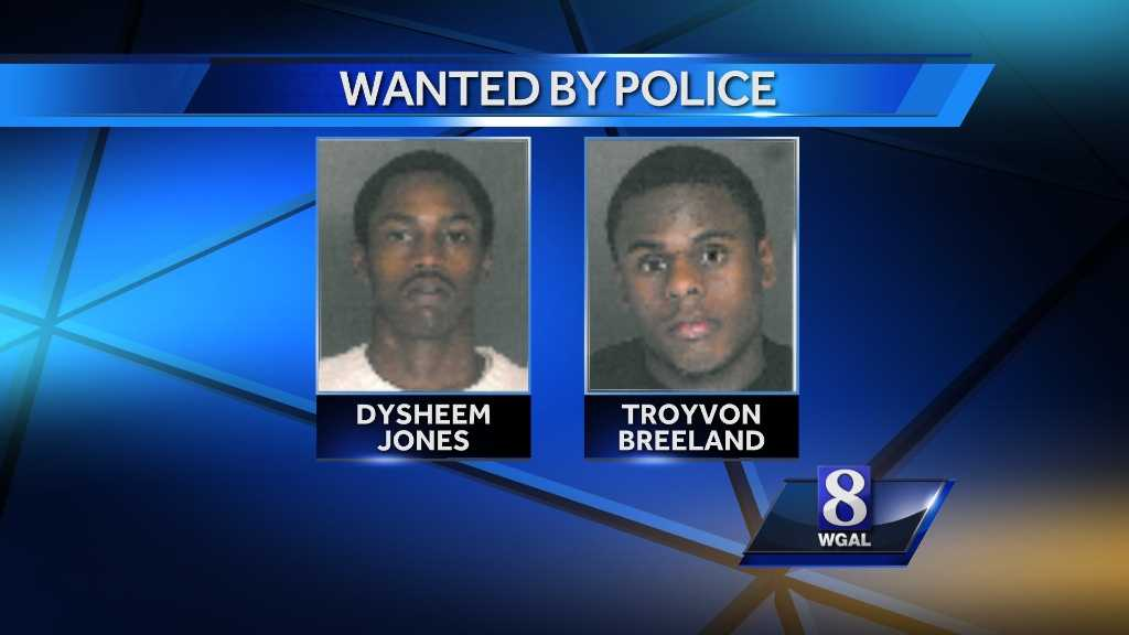 Dysheem Tyquahn Jones and Troyvon Darnell Breeland, both of York, are wanted for questioning.