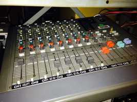 This is part of an old WGAL switchboard, which is used to operate video and audio during a broadcast.