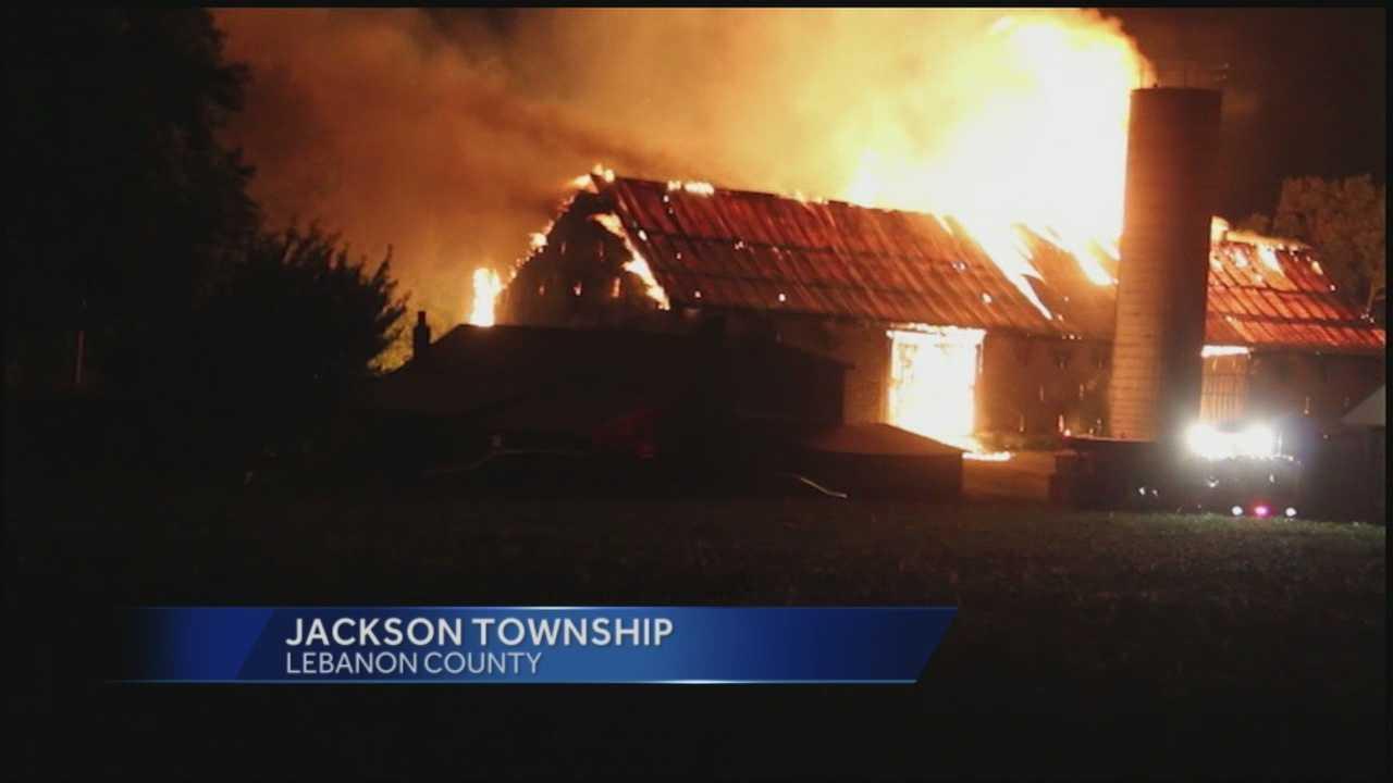 img-News 8 at Noon 9 11 14 lebanon county barn fire