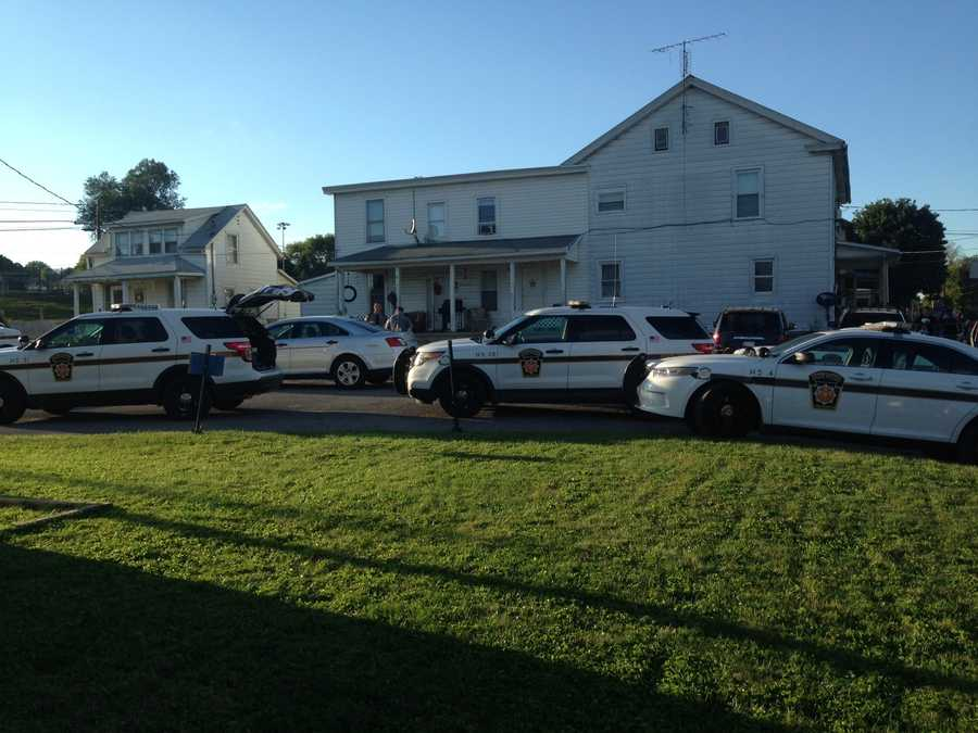 Troopers from the Newport Barracks on scene of a suspicious death in Oliver Township, Perry County.