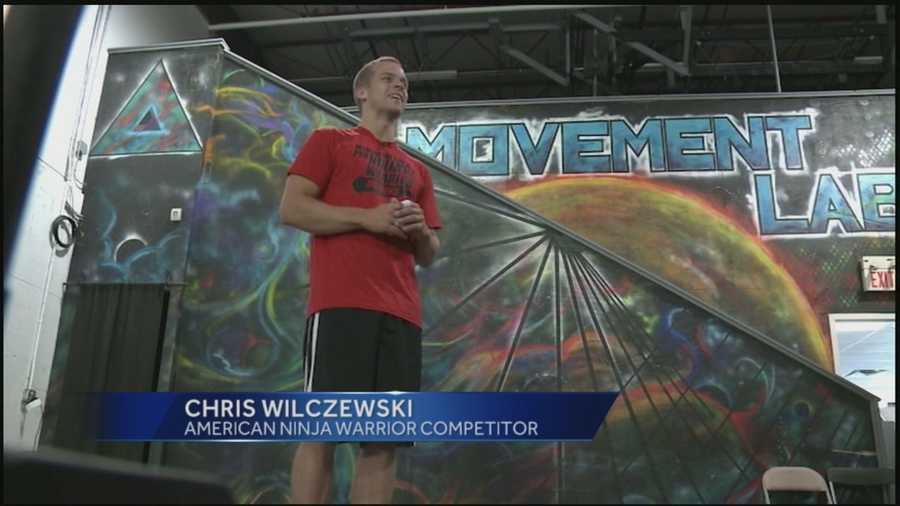 Chris Wilczewski knows first hand what it's like to take on American Ninja Warrior. He's competed on the show for the past five seasons. He guided Jere Gish through some of the challenges at Chris's New Jersey gym.
