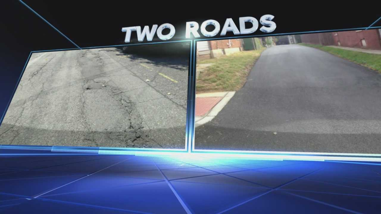 Residents in Lancaster City are confused why the city paved some streets, while others continue to crumble.