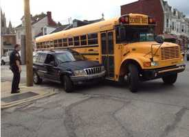There was a minor crash involving a school bus in York on Thursday morning.