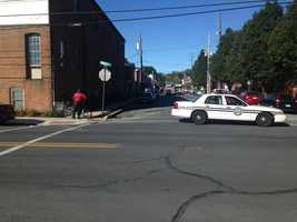 The incident happened along the 500 block of North Lancaster Avenue around 9 a.m.Officials said a contractor working on a water main ruptured a four-inch natural gas line. The incident forced the evacuation of the block.
