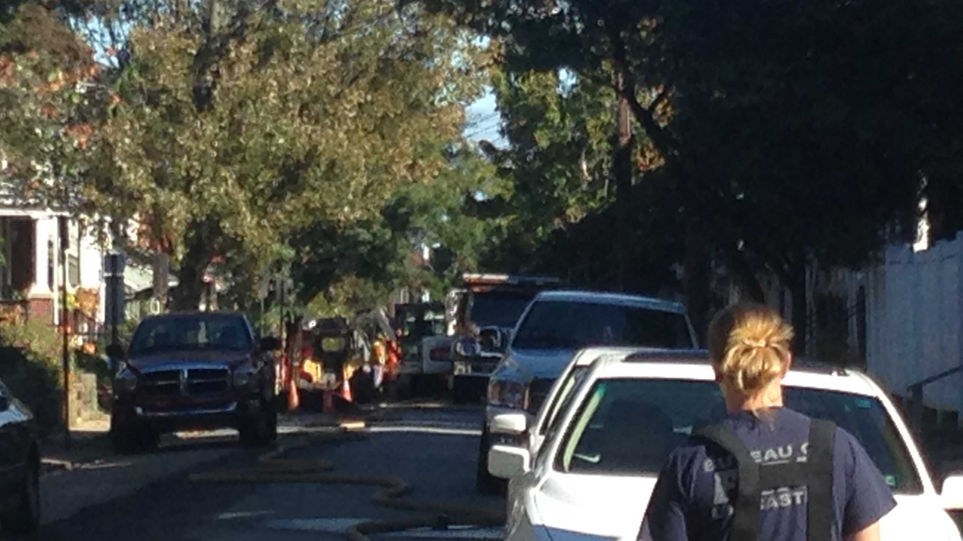 Businesses and residences were evacuated Monday morning in Lancaster due to a gas leak.