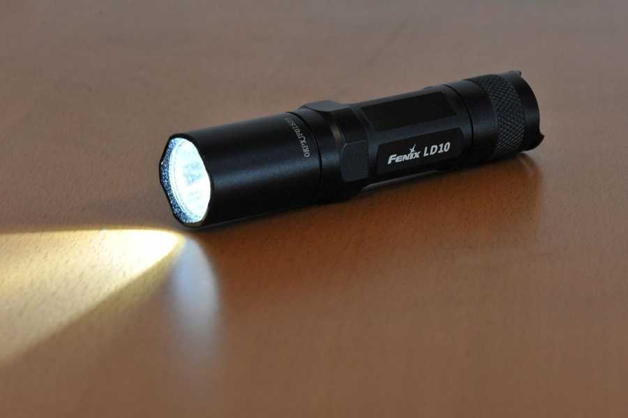 A flashlight is another useful source of light.