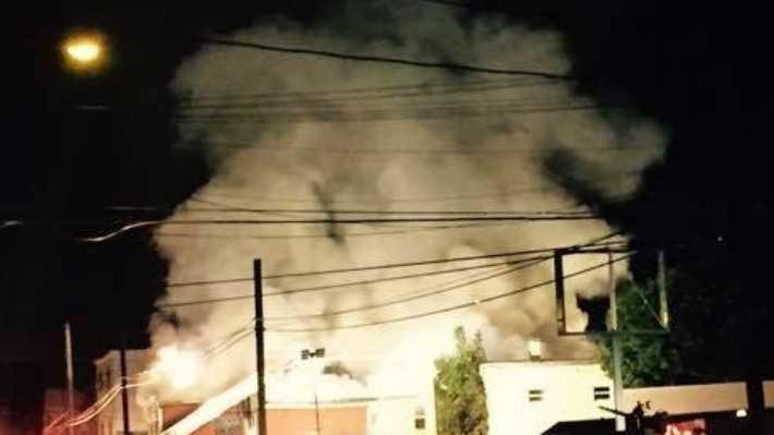 Centre Street fire in Shenandoah