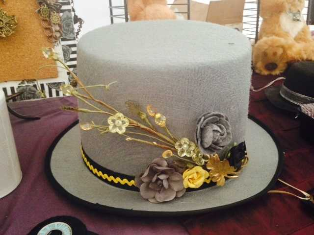 Top hats, popular during the late 1800s and early 1900s, are part of Steampunk dress. (Hat pictured is made by The Rougish Rabbit.)
