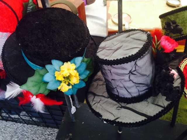 The top hats showcase unique designs and colors.
