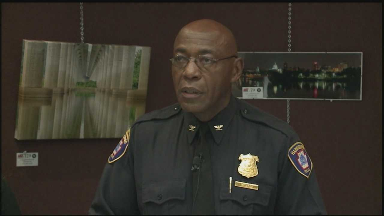 Harrisburg Police Chief Thomas Carter is speaking out about last week's shootout on Market Street.