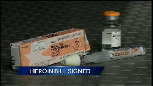 Governor Corbett signed a bill into law Tuesday that expands the tools available to help a person who overdoses on heroin.