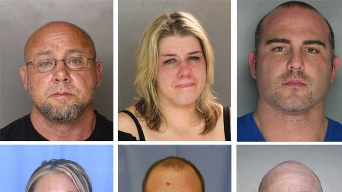 Officials said they arrested 13 people from Pennsylvania who were part of two transcontinental anabolic steroid rings. Click through to see the suspects and charges.
