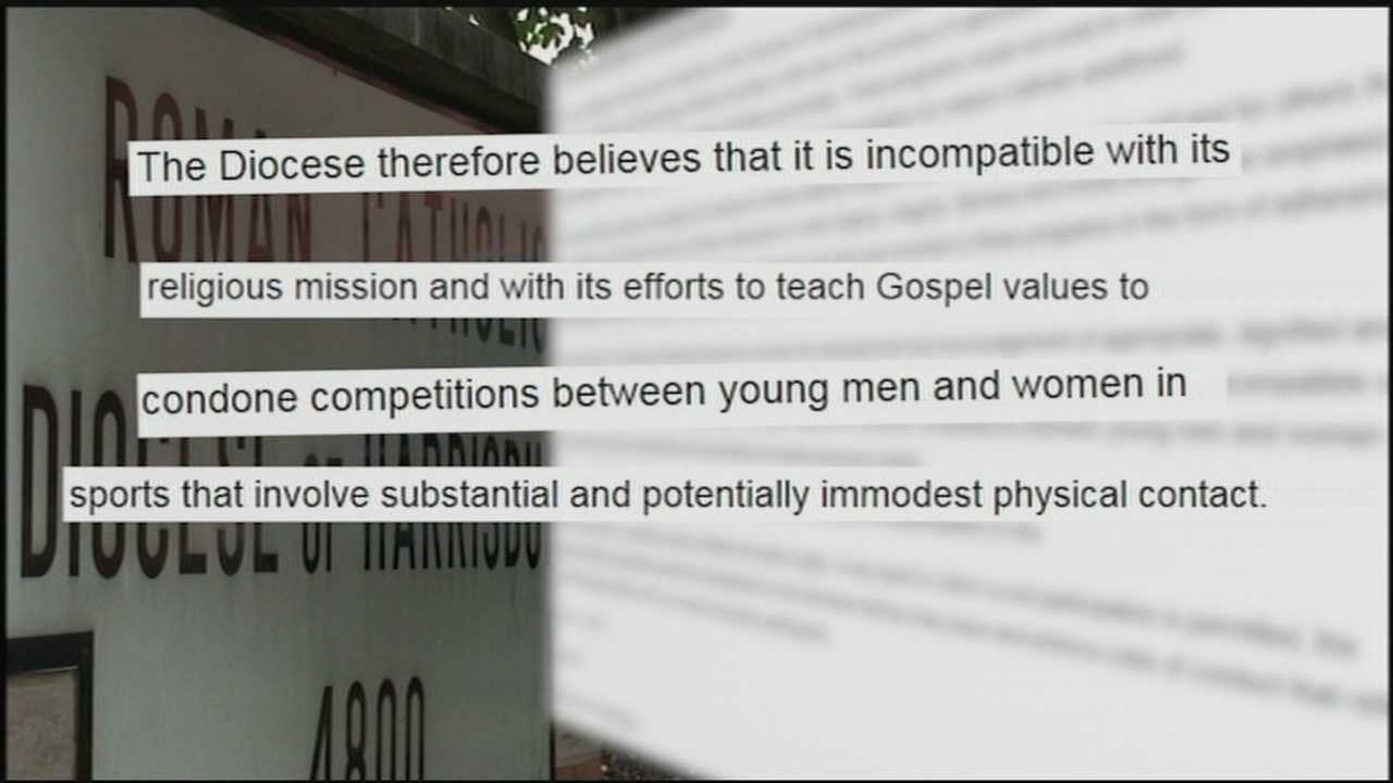 The Catholic Diocese of Harrisburg has a new policy forbidding girls from wrestling on Catholic high school teams and that keeps boys from wrestling girls on other teams.