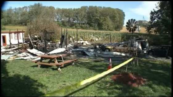 It happened Sunday afternoon at 275 Vinegar Ferry Road in a garage full of fireworks. The explosion sent a large plume of smoke into the air that could be seen for miles.
