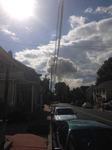 Smoke seen from Vinegar Ferry Road.