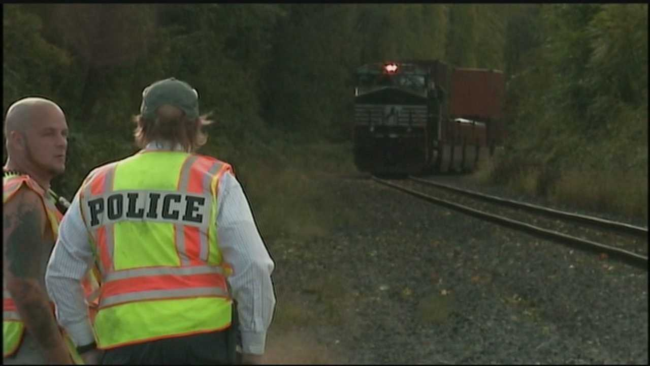 A man has died after a train ran him over in South Middleton Township, Cumberland County, on Monday afternoon.