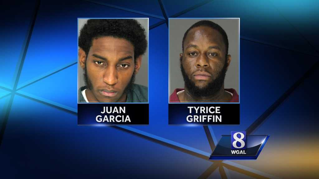 Police say Juan Garcia and Tyrice Griffin, both of Hazleton, Luzerne County, held up The Belvedere Inn in Lancaster and Arooga's Grille House & Sports Bar in Camp Hill last October.