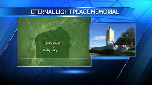 The Eternal Light Peace Memorial is now re-lit in Gettysburg.
