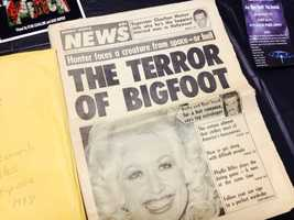 There's also Bigfoot story clippings, some real and some fake.