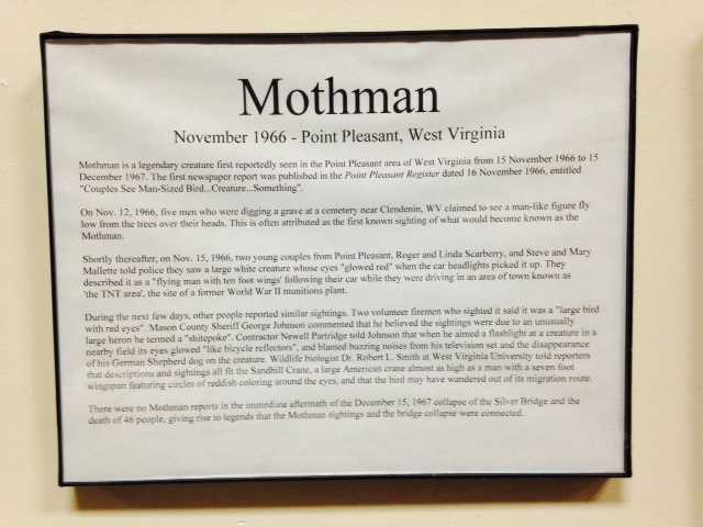 "The 2002 movie ""The Mothman Prophecies"" was based on the sightings."