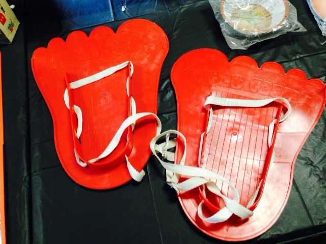 "Check out these Bigfoot ""snow shoes!"""