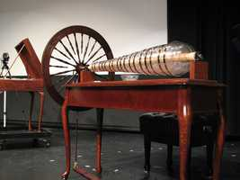 Glass ArmonicaDate: 1761After spending time traveling to London and Paris, Benjamin Franklin wanted to create an instrument that could mimic the sound of musical glasses that were used in concerts he attended during his time abroad.(Source: The Franklin Institute)