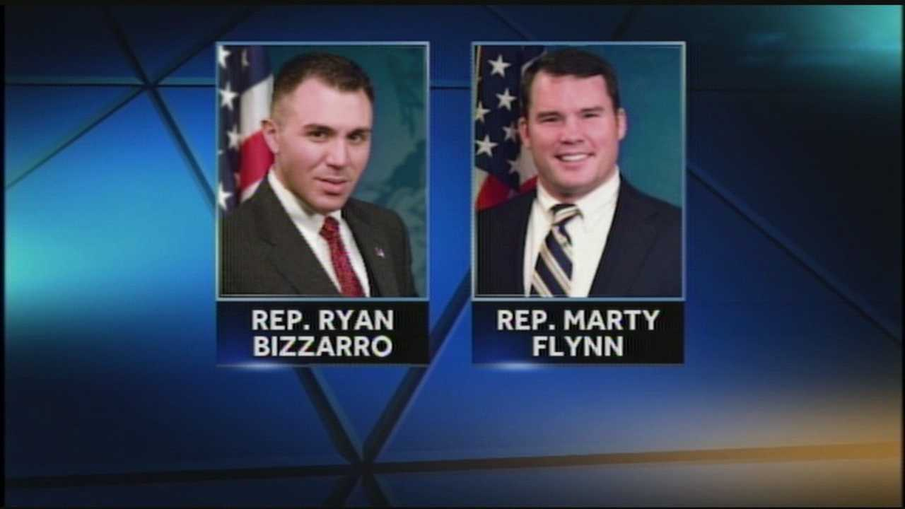 Two state lawmakers were robbed at gunpoint overnight, and one lawmaker fired back.
