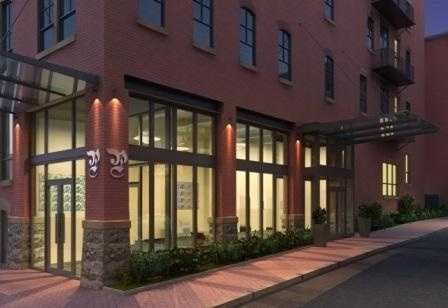 The historic Lancaster Press building has been renovated and converted to housing.