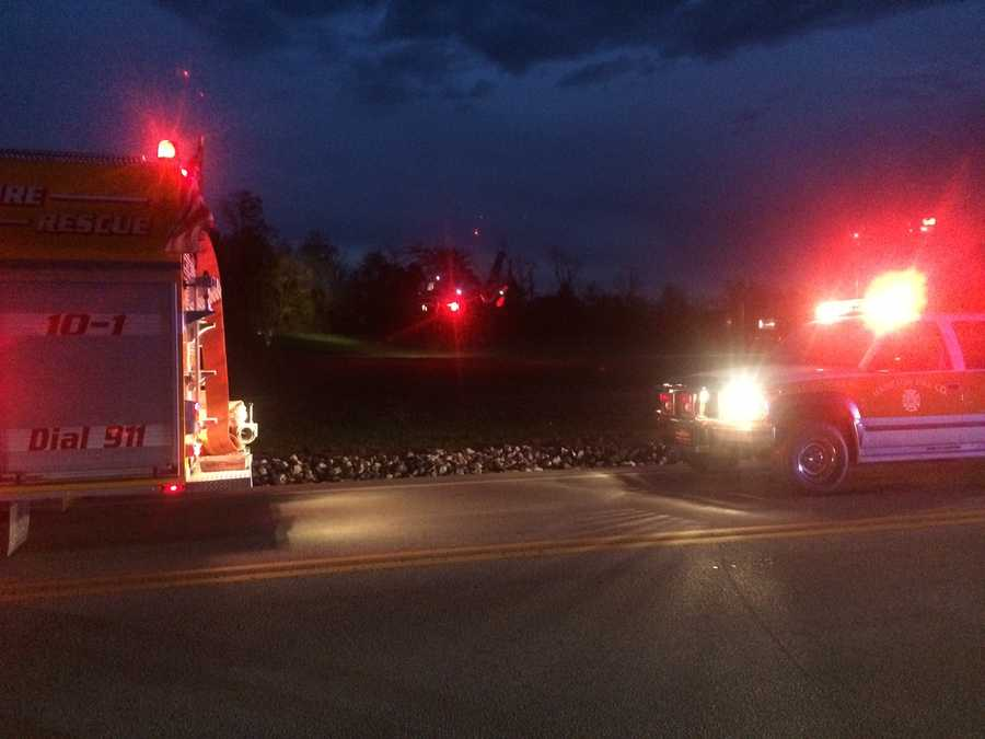 A woman and her 3-month-old son are in the hospital after a crash in Adams County Monday night.