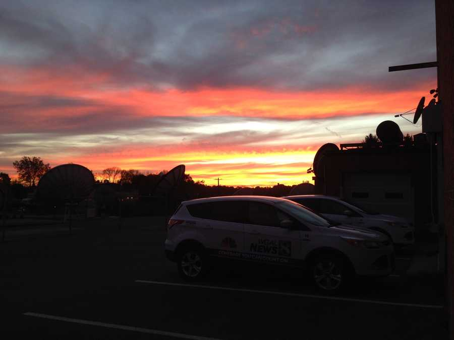 Check out the beautiful sunset over our station Friday night. Pictures were taken by one of our photographers, Andrew Manifold.