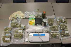 Police say more than $7,000 worth of marijuana was seized during the investigation along with nearly $4,000 in THC-laced food.