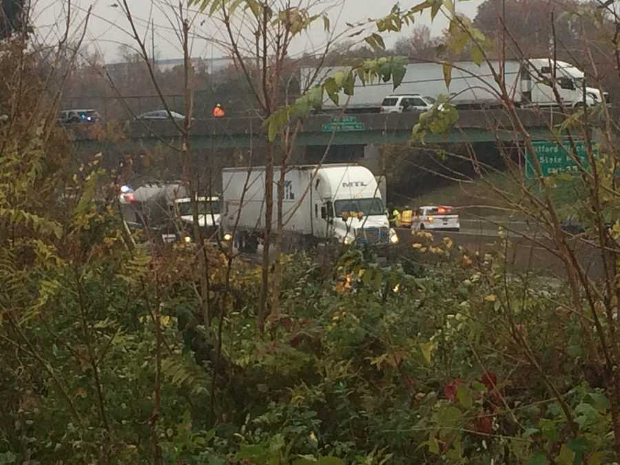 Authorities are investigating a suspected suicide on I-83 under the Fishing Creek overpass.