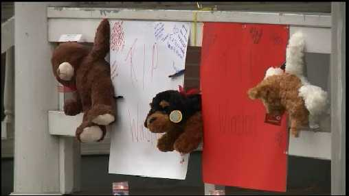 A memorial is in place for 17-year-old Winston McCullough Jr. He was fatally shot on the 400 block of Hummel Street in Harrisburg on Saturday.