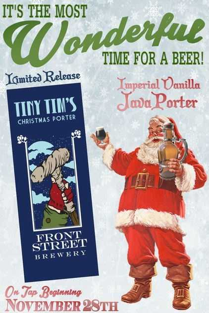 Tiny Tim's Christmas Porter from Front Street Brewery in Wilmington, North Carolina.
