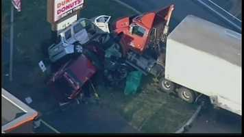 The crash happened around 6:30 a.m. on Route 222 near Route 73 south of Kutztown.