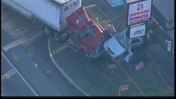 The crash involved 10 vehicles.