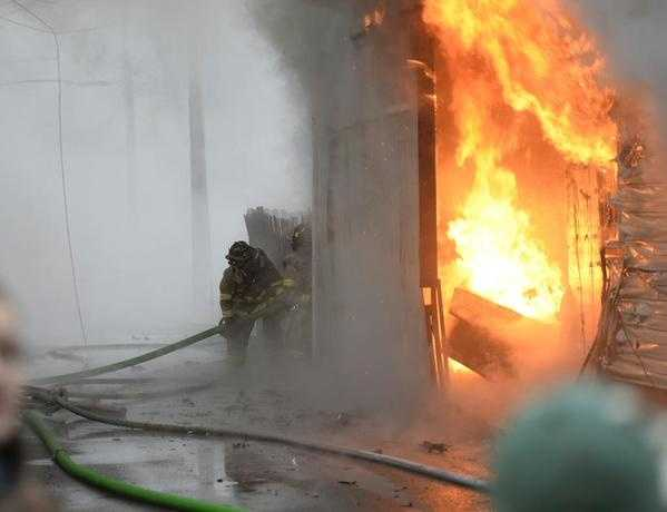 Emergency crews attended to a three-alarm fire in Lebanon County on Tuesday afternoon.