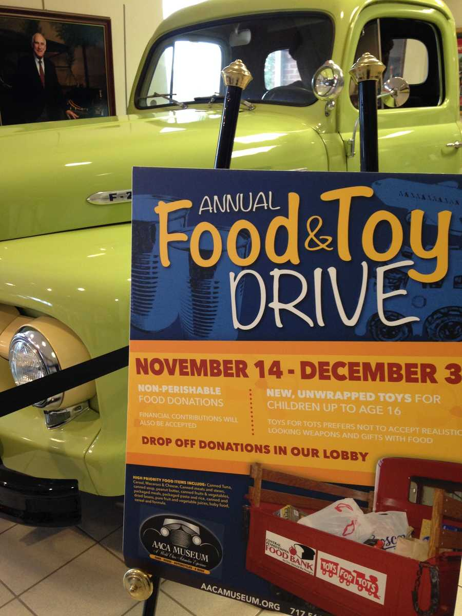 The AACA Museum also gets into the Christmas spirit with their annual Food and Toy Drive.